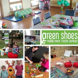 Green shoes collage 3