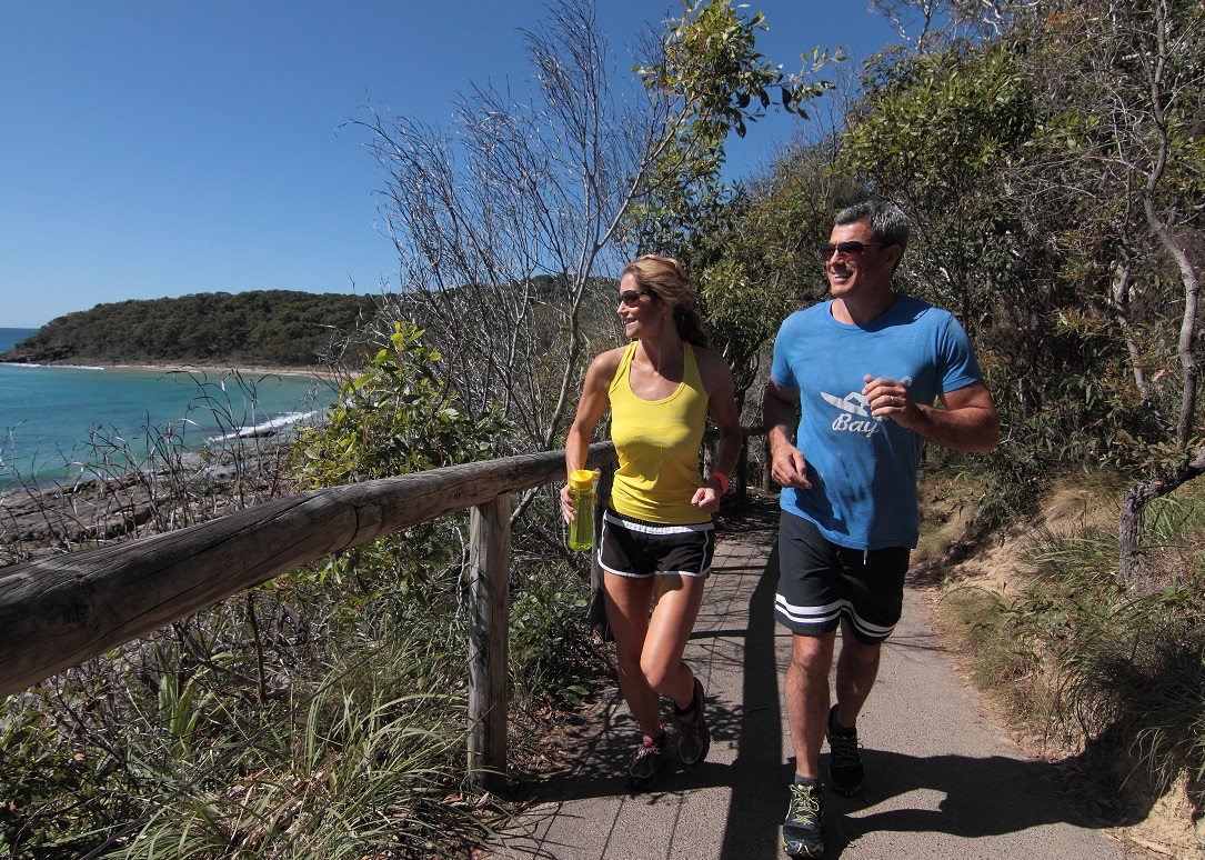 Couple running National Park-reduced